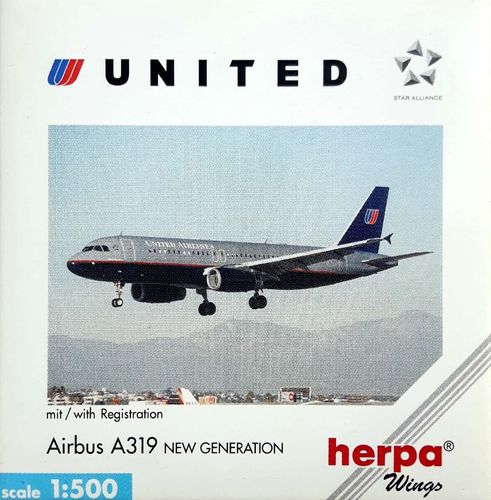 Herpa Wings United Airlines A319-131 1:500 - 509015