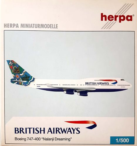 Herpa Wings British Airways B 747-436 1:500 - 513821 NALANJI DREAMING