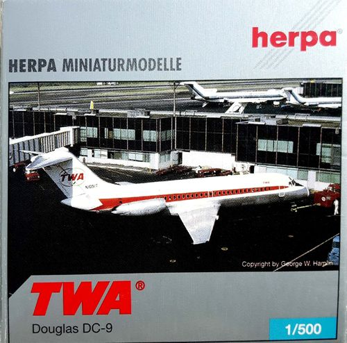 Herpa Wings Trans World Airlines DC-9-14 1:500 - 514446