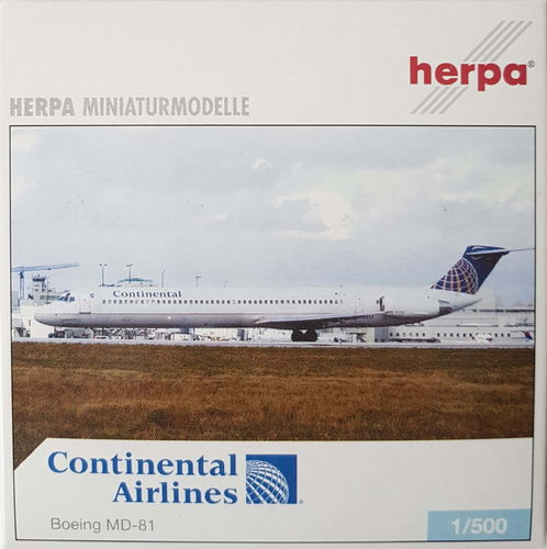 Herpa Wings Continental Airlines MD-81 1:500 - 506021