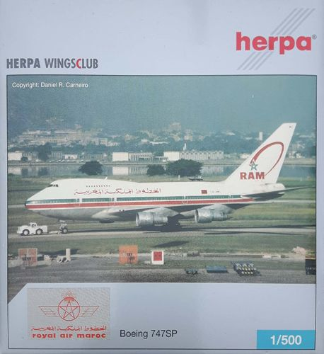 Herpa Wings Royal Air Maroc B 747SP-44 1:500 - 513708