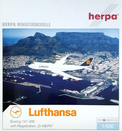 Herpa Wings Lufthansa B 747-430 1:500 - 516105 D-ABVW