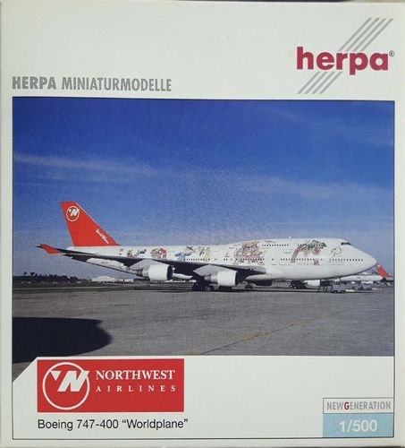 Herpa Wings Northwest Airlines B 747-451 1:500 - 504096