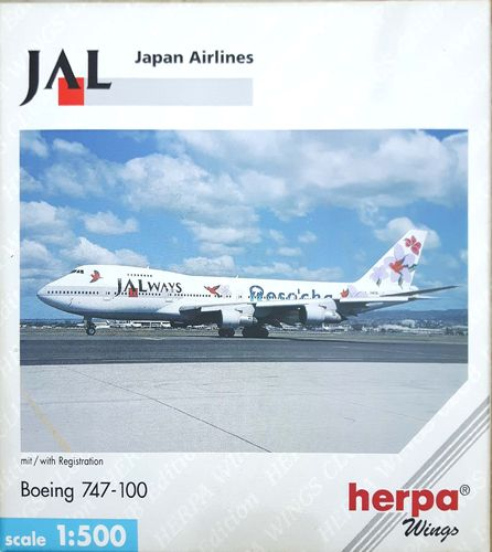 Herpa Wings JALways B 747-146 1:500 - 512862