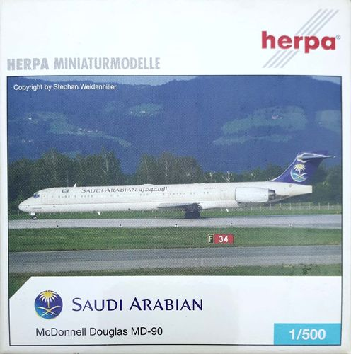 Herpa Wings Saudi Arabian Airlines MD-90-30 1:500 - 506052