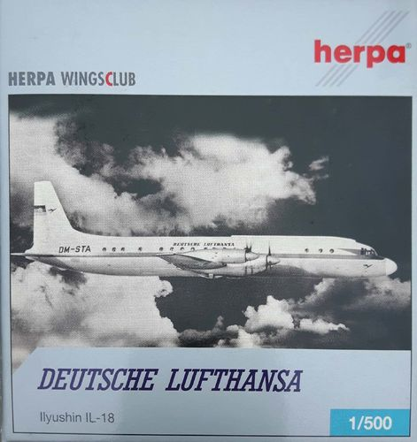 Herpa Wings Lufthansa IL-18D 1:500 - 513883