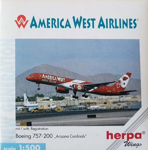 Herpa Wings America West Airlines B 757-2G7 1:500 - 503884
