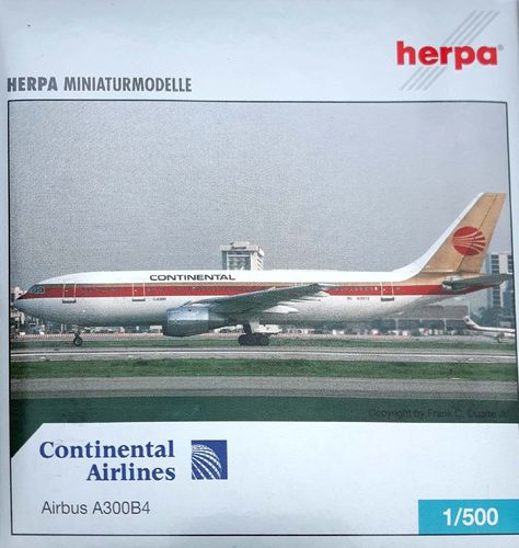 Herpa Wings Continental Airlines A300B4-203 1:500 - 514378