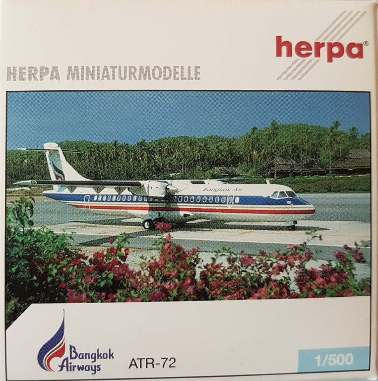 1:500 Herpa Wings 513388  Bangkok Airways ATR-72