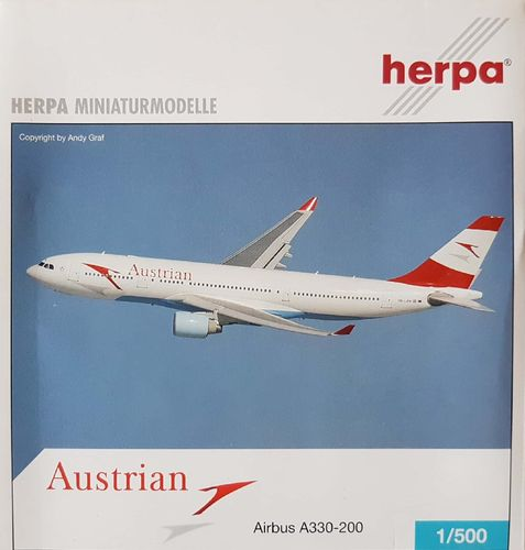 Herpa Wings Austrian Airlines A330-223 1:500 - 514163