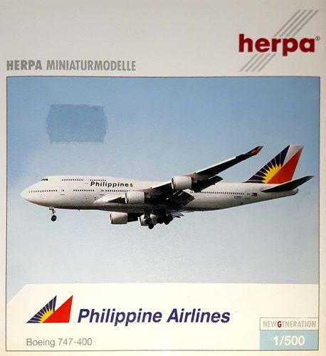 Herpa Wings Philippine Airlines B 747-4F6 1:500 - 504034