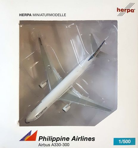Herpa Wings Philippines - Philippine Airlines A330-301 1:500 - 517867 -  RP-C3335