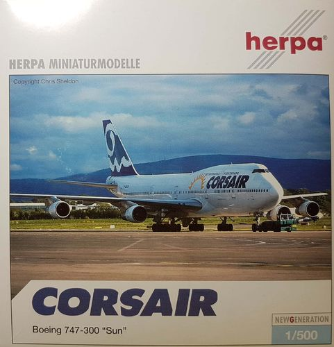 Herpa Wings Corsair B 747-312 1:500 - 504072 - F-GSUN