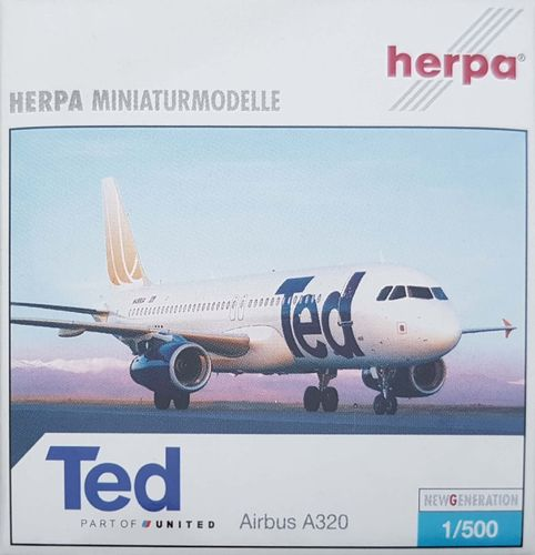 Herpa Wings Ted A320-232 1:500 - 502207