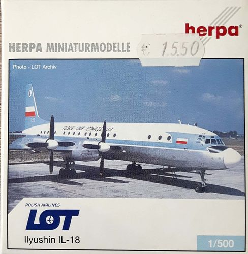 Herpa Wings LOT Polish Airlines IL-18V 1:500 - 510561