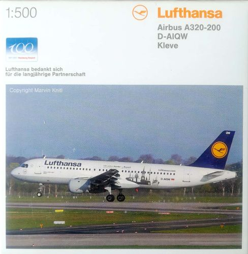 Herpa Wings Lufthansa A320-211 1:500 - 520843 D-AIQW - KLEVE