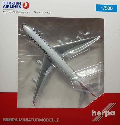 Herpa Wings Turkish Airlines A340-311 1:500 - TC-JDM - 524360