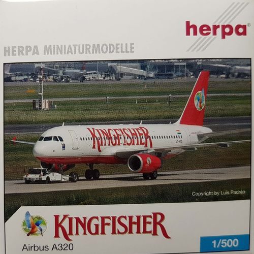 Herpa Wings Kingfisher Airlines A320-232 1:500 - 502238