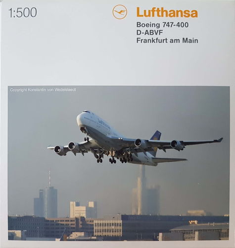 Herpa Wings Lufthansa B 747-430 1:500 - D-ABVF Frankfurt am Main - 516105