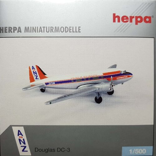 Herpa Wings ANZ Airlines of New Zealand C-47A-DL 1:500 - 500210