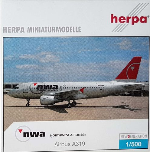 Herpa Wings Northwest Airlines A319-114 1:500 - 509084