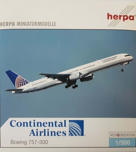 Herpa Wings Continental Airlines B 757-324 1:500 - 510424