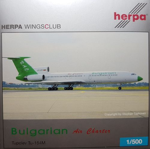 Herpa Wings Bulgarian Air Charter TU-154M 1:500 - 510899