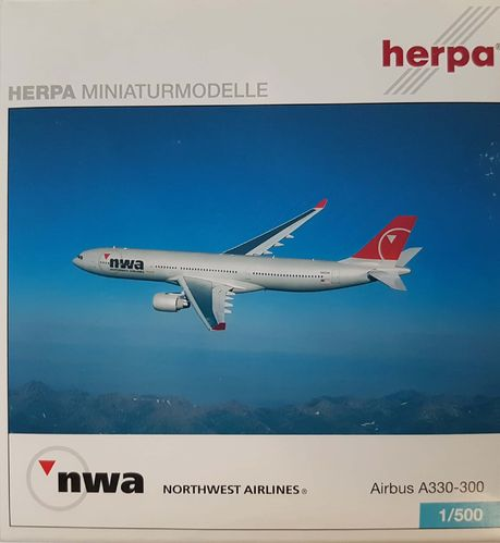 Herpa Wings Northwest Airlines A330-323X 1:500 - 502009