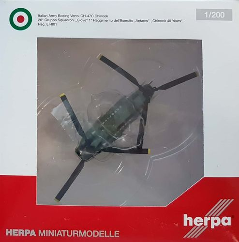 "Herpa Wings Italian Army ""40 Years"" Vertol CH-47C Chinook 1:200 - 556781"