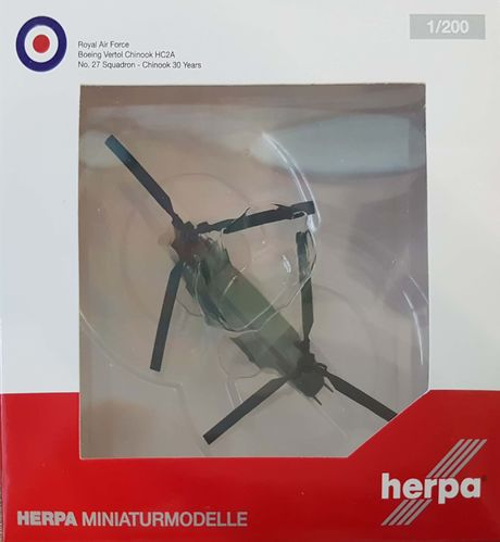 Herpa Wings Royal Air Force Vetrol CH-47D 1:200 - 555913