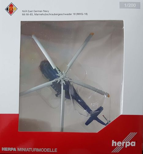 Herpa Wings NVA East German Navy Mi-8S 1:200 - 555890 - Reg 773