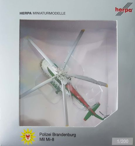 Herpa Wings Polizei Brandenburg Mi-8 1:200 - D-HOZH - 554893