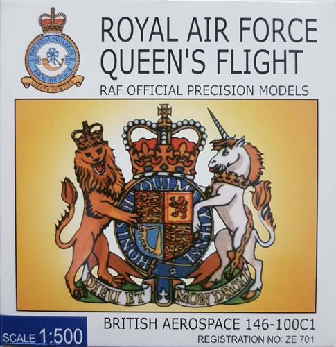 Hogan Royal Air Force BAe 146-100C1 1:500 - RAF50001