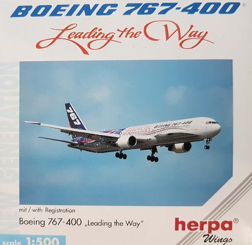 Herpa Wings Boeing Aircraft Company B 767-432ER - LEADING THE WAY - 1:500 - 512824