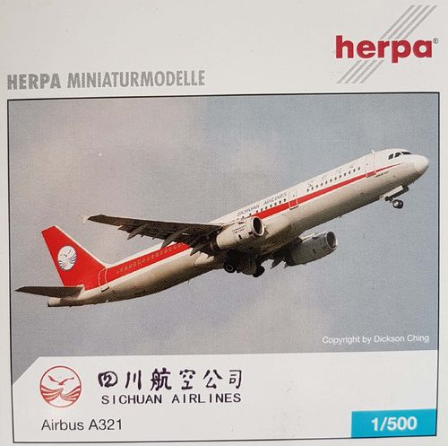 Herpa Wings Sichuan Airlines A321-231 1:500 - 508872