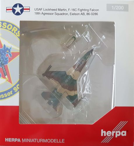 Herpa Wings United States Air Force F-16C Fighting Falcon 1:200 - 555579