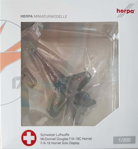 Herpa Wings Swiss Air Force F/A-18C Hornet 1:200 - 554718