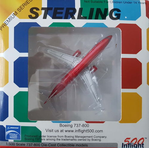 Inflight500 Sterling B 737-85H 1:500 - IF5738007
