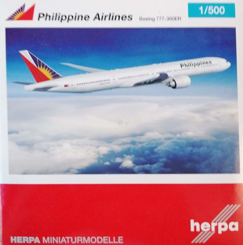 Herpa Wings Philippine Airlines B 777-36NER - RP-C7776 - 506816-001